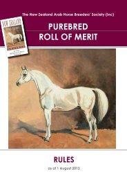 Purebred ROM Rules 2013.pdf - The New Zealand Arab Horse ...