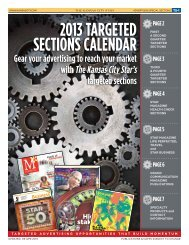 2013 TARGETED SECTIONS CALENDAR - Kansas City Star