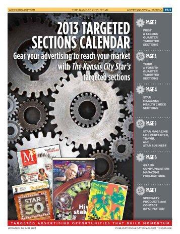 2013 TARGETED SECTIONS CALENDAR - Kansas City Star