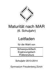 6. Schuljahr und Maturitätsprüfung: Wegleitung (2. Sem. 5. Klasse)