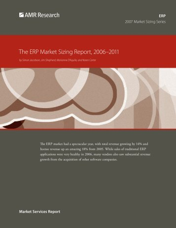 The ERP Market Sizing Report, 2006–2011 - SAP.com