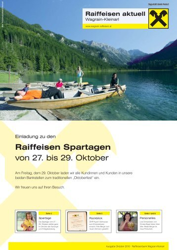 Kundenzeitung Oktober 2010 - Raiffeisen Wagrain