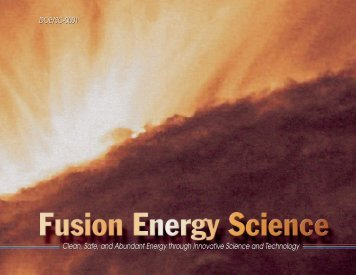 Clean, Safe, and Abundant Energy through Innovative Science and ...