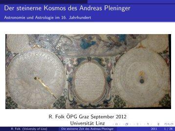 Die steinerne Zeit des Andreas Pleninger
