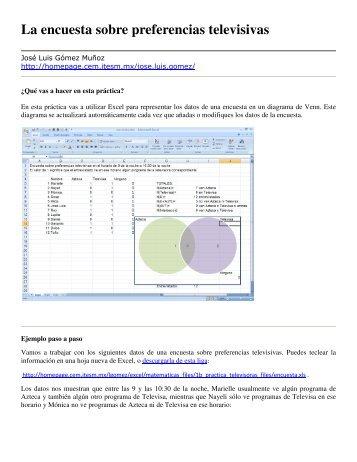 (Conjuntos) en Excel
