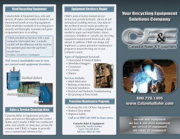 Download Our Brochure - Catawba Baler & Equipment