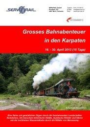 Grosses Bahnabenteuer in den Karpaten 16. - 30. April ... - SERVRail