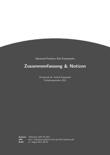 Zusammenfassung & Notizen - GitHub Pages