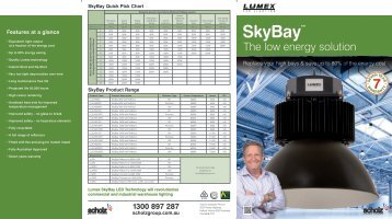 The low energy solution - LED Lights by Lumex Lighting