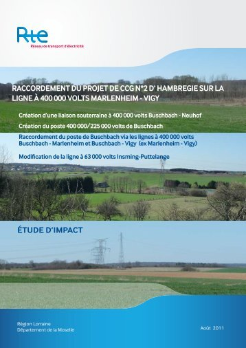 Télécharger l'étude d'impact du projet 400 kV - RTE