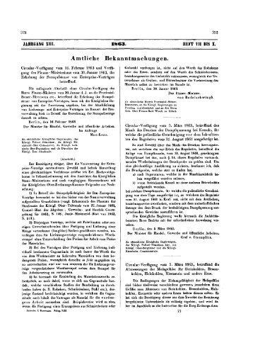 04. Zeitschrift für Bauwesen XIII. 1863, H. VII-X= Sp. 321-552