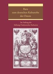 Rara zum deutschen Kulturerbe des Ostens - Kulturportal West Ost