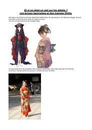 Les tenues japonaises et des mangas Shôjo.
