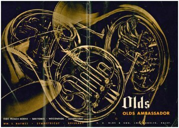 Late Los Angeles Olds Catalog in pdf - It's A Bear
