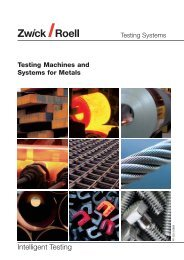 Testing Machines and Systems for Metals - Sartorom