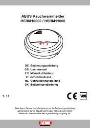 ABUS Rauchwarnmelder HSRM10000 / HSRM11000