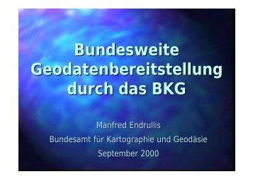 Bundesweite ATKIS-Geodatenbereitstellung