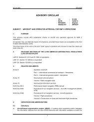 ADVISORY CIRCULAR - ICAO