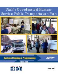 Utah's Coordinated Human- Service Public Transportation Plan
