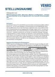 VENRO-Stellungnahme zum BMZ-Strategiepapier_101013_final