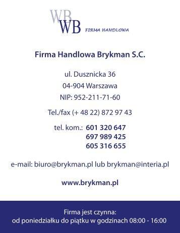 Firma Handlowa Brykman S.C.