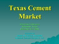 The Houston and Texas Cement Markets