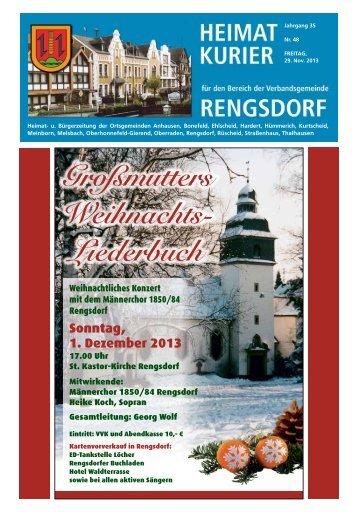 Großmutters Weihnachts - Verbandsgemeindeverwaltung Rengsdorf