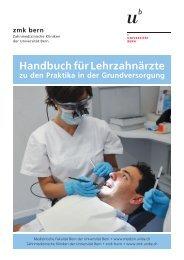 Handbuch Lehrzahnärzte - zahnmedizinische kliniken zmk bern