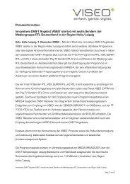 Presseinformation Innovatives DVB-T Angebot VISEO+ startet mit ...