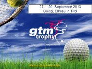 GTM Trophy 2013 – Packages