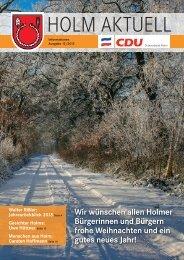 Wir wünschen allen Holmer Bürgerinnen und Bürgern ... - CDU Holm