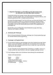 1. Allgemeine Richtlinien zur Durchführung des Karnevalsumzugs ...