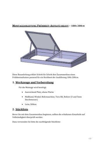 Montageanleitung Frühbeetaufsatz_heavy - Hochbeet-Hans