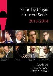 Saturday Organ Concert Series 2013 2014 - St Albans International ...