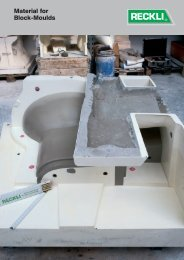 Material for Block-Moulds - RECKLI GmbH