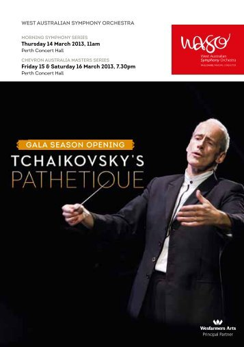 gAlA SeASon opening - West Australian Symphony Orchestra