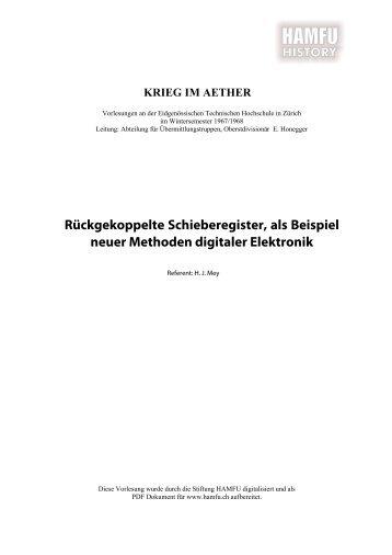 Rückgekoppelte Schieberegister, als Beispiel ... - Stiftung HAMFU