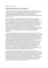 Grundriss der Kapell-Geschichte - Staatskapelle Dresden