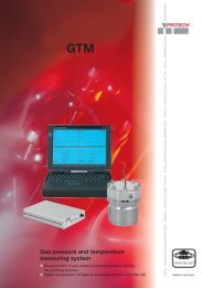 Gas pressure and temperature measuring system GTM Method of ...