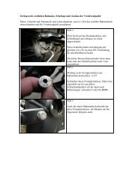 Zerlegen des restlichen Rahmens, Schwinge und Ausbau der ...