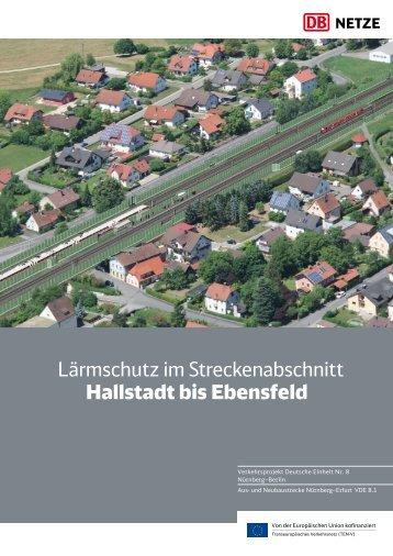 Lärmschutz im Streckenabschnitt Hallstadt bis Ebensfeld Download ...