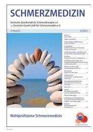 Schmerzmedizin 2/2013 - Schmerz Therapie Deutsche Gesellschaft ...