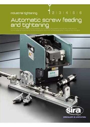 Automatic screw feeding and tightening - SIRA SpA