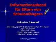 A. Das Einschulungsverfahren - Volksschule Eckersdorf