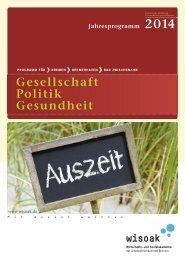 Gesamtes Programmheft 2014 Gesellschaft, Politik - Wirtschafts