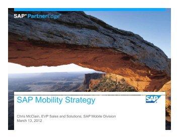SAP Mobility Strategy - SAP Mobile Apps Partner Center