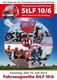 Unser Feuerwehr Magazin für alle Haushalte in Raisting vor dem Fest