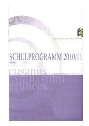SCHULPROGRAMM - gesamt - Schule und Kindergarten in Südtirol