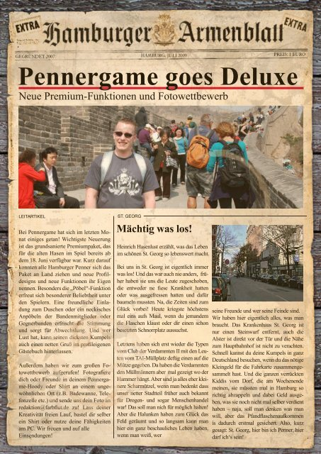 Pennergame goes Deluxe
