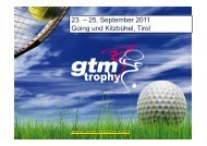 23. – 25. September 2011 Going und Kitzbühel, Tirol - GTM Trophy